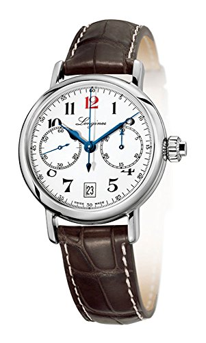 Special Edition Longines Heritage 180th Anniversary Chronograph Steel Mens Strap Watch Calendar L2.775.4.23.3