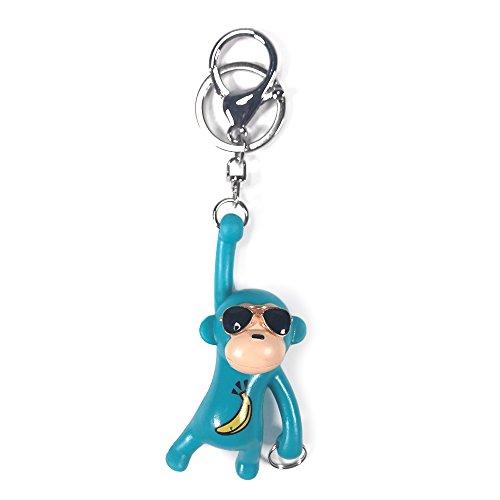 YGMONER Monkey Keychains, Bag Pendant Charm (Blue) ()