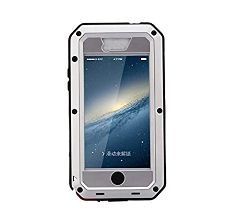 R&MAO-iPhone 5C Case,Extreme Waterproof/Shockproof Dust/Dirt Proof Aluminum Metal Gorilla Glass Protection Case Cover Military Heavy Duty Protection Cover Case for Apple iPhone 5C (Aluminum Metal Iphone 5c Case)