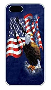 Eagle Flag PC Case Cover for iPhone 5 and iPhone 6 4.7 White