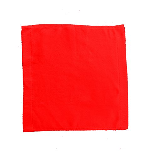 (robesale Terry Cotton Velour WashCloth Towel, Red, Set of 12)
