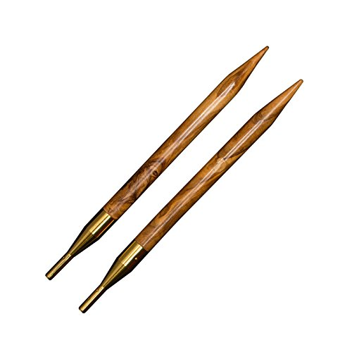 addi Click Nature Olive Wood GOLD Edition - Interchangeable Needle Set with addi Gold Scissors, addi Gold Cords, addi Love Stitch Marker, addiGrip Pads and Needle Gauge by addi (Image #1)