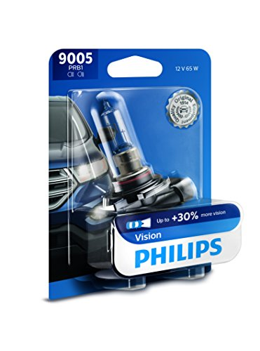 Philips 9005 Vision Upgrade Headlight Bulb with up to 30% More Vision, 1 Pack