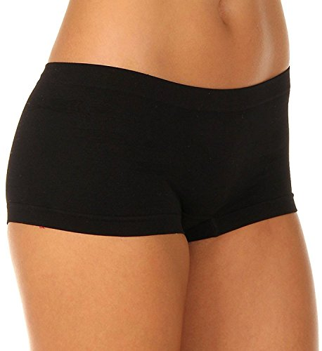 Coobie Women`s Boy Short One Size Style 9008 (Black)