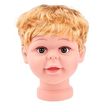 Amazon.com: Prettyia - Gorra de maniquí con cabeza de niño y ...