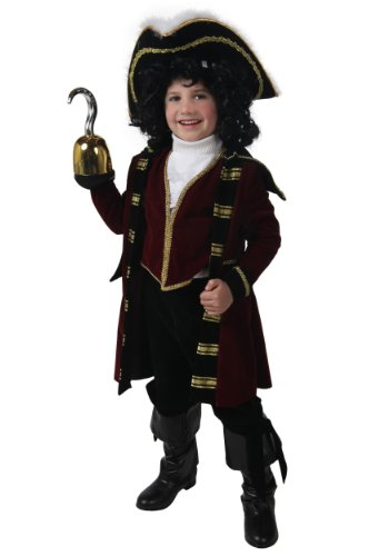 Child Deluxe Peter Pan Costumes (Big Boys' Deluxe Captain Hook Costume Small)