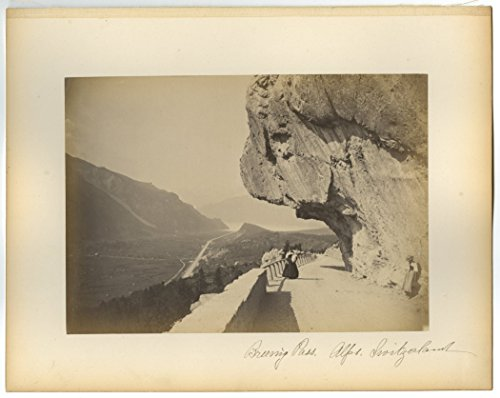 Swiss Alps - 19th Century Europe - Vintage Albumen Photograph
