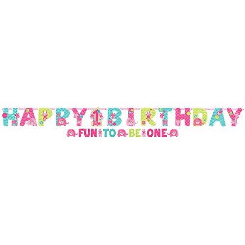 Amscan One Wild Girl 1st Birthday Banner