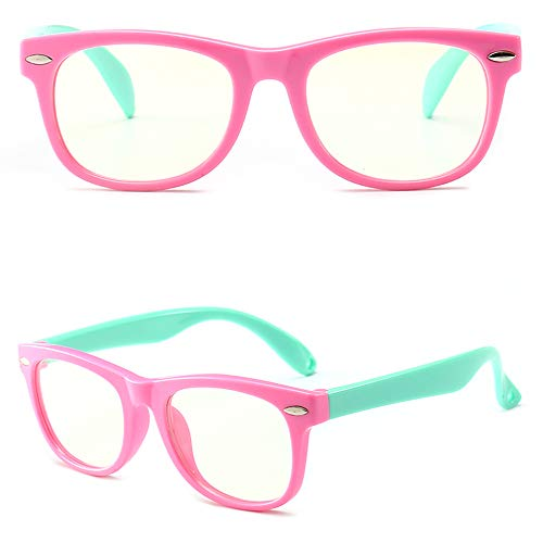 Blue Light Guardian Kids Computer Blue Light Blocking Glasses for Boys and Gilrs Anti Eyestrain - Pink