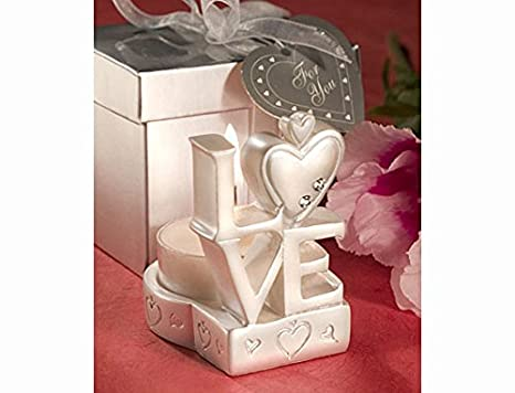 Love Design Candle Holder Favors Great Wedding Favours Birthday
