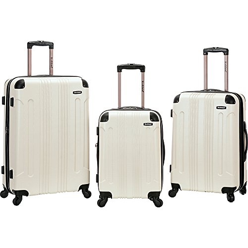 Rockland 3 Piece Sonic Abs Upright Set, White by Rockland
