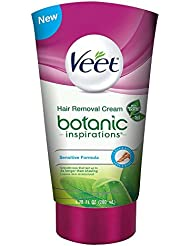 Veet Fast Acting Hair Remover Gel Cream for Legs and Body, Sensitive Formula with Aloe Vera, 6.78 Ounce Tube