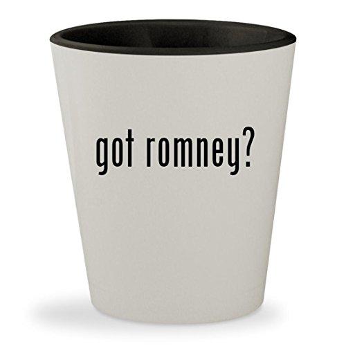got romney? - White Outer & Black Inner Ceramic 1.5oz Shot Glass