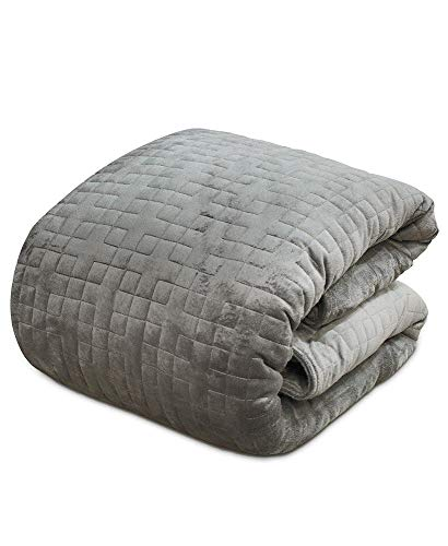 Cheap Moon_Daughter 20 Lbs Dark Grey Gray Warmth Blanket Weighted Deep Sleep Calm Feel Comfortable Body with Cover Black Friday & Cyber Monday 2019