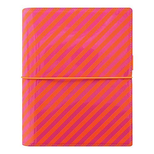 Pink Pen Filofax (Filofax 2019 A5 Domino Organizer, Patent Orange/Pink Stripes, 8.25 x 5.75 inches (C022574-19))