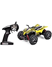STOTOY 1:24 Scale Electric RC Car Off Road Vehicle 2.4GHz Radio Remote Control Car 4W High Speed Racing Monster Truck High Speed 25MPH,1510A-Yellow