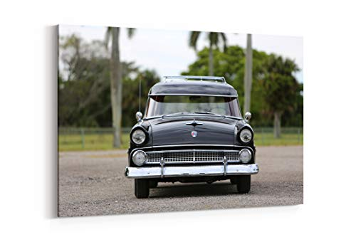 - 1955 Ford Country Sedan 6 Passenger Cars Classic - Canvas Wall Art Gallery Wrapped 12