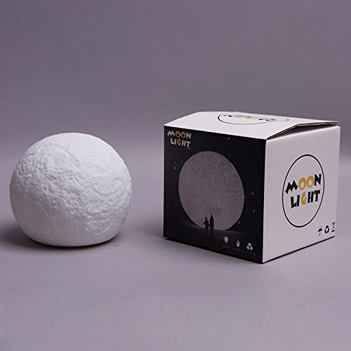 Dsstyle Battery Version Colour-changing 3D Moon Light with Touch Sensor Night Light Decoration (without Battery) by Dsstyle (Image #3)