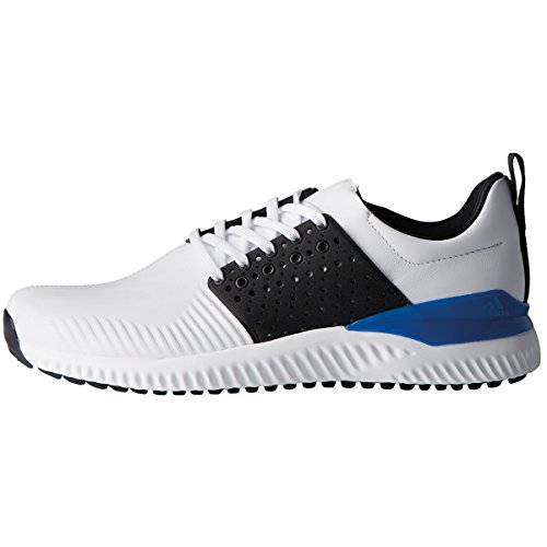 Adidas Golf 2018 Mens Adicross Bounce Spikeless Golf Shoes - Wide Fitting White/Core Black/Blue 11UK CFsMloURgw