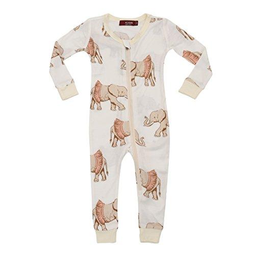 Milkbarn Bamboo Zipper Pajama - Tutu Elephant (6-9 month)]()