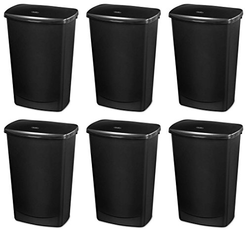 Sterilite 10919006 Lift Top Covered Wastebasket