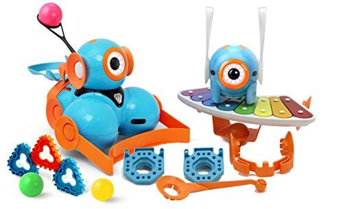 image Ensemble Wonder Édition spéciale de Wonder Workshop – Dash, Robot Dot, Catapulte, Xylophone et Ensemble d'Accessoires – Des Robots astucieux pour des Esprits curieux, vos Enfants Apprendront à Coder tout en s'Amusant – Applis gratuites