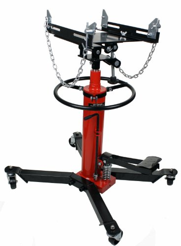 Dragway Tools 1000 LB 2 Stage Hydraulic Transmission Jack Lift Hoist with Foot Pump