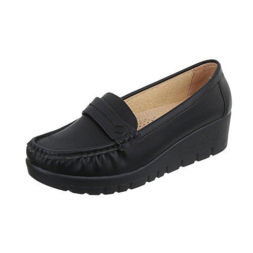 Mocassins Noir 1152 Compensé Ital Chaussures Femme design qnTRXt
