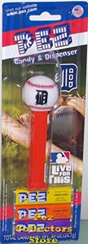 (PEZ Dispenser and Candy Detroit Tigers)