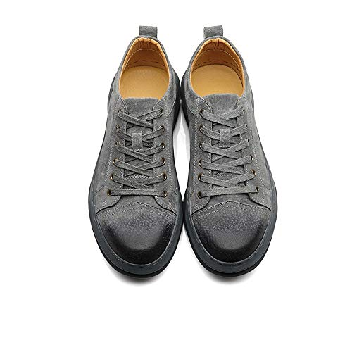 EU con Cabeza Redonda para Zapatos Deporte Azul tamaño Qiusa Ocasionales Cordones clásicos Botas 41 de Color Transpirables Hombres Zapatillas de fUwxSq