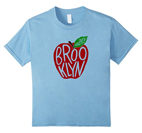 Kids Brooklyn New York Skyline T-Shirt Travel Souvenir USA 4 Baby Blue by USA Cities