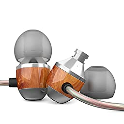 Apie Wood Corded In-ear Noise Cancelling Earphones with Microphone