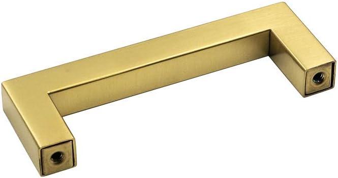 Lontan LSJ12GD Tiradores para muebles color dorado Dorado 12 unidades, acero inoxidable