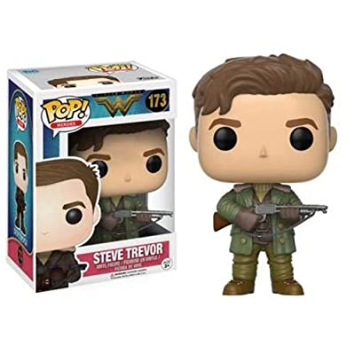 Funko POP Movies DC Wonder Woman Movie Steve Trevor Action Figure: Funko Pop! Movies:: Toys & Games