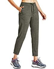 Willit Women's Golf Travel Pants Lounge Sweatpants 7/8 Athletic Pants Quick Dry On The Fly Pants