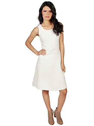 Desigual 61v2ld2, Vestido para Mujer Blanco