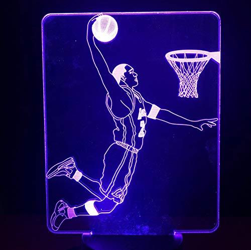 Baloncesto Niños Led Lámpara De Luz Nocturna Kobe Bryant Dunk ...