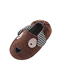 ONCEFIRST Toddler Kids Slippers Cartoon Cute Animals Warm Shoes