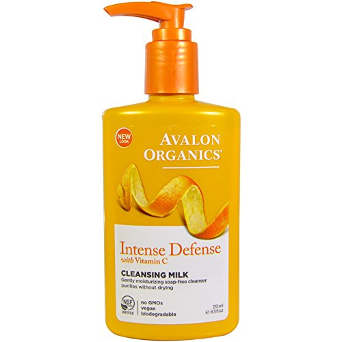 Avalon Organics, Intense Defense with Vitamin C, Cleansing Milk, 8.5 fl oz (251 ml)