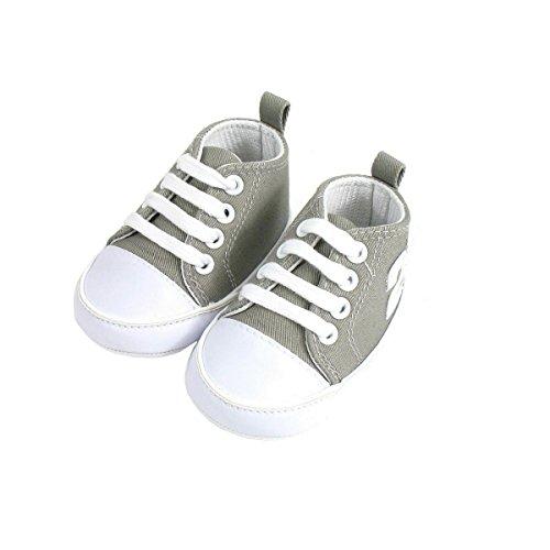 Baloncesto Bebé 6-12 meses gris y blanco