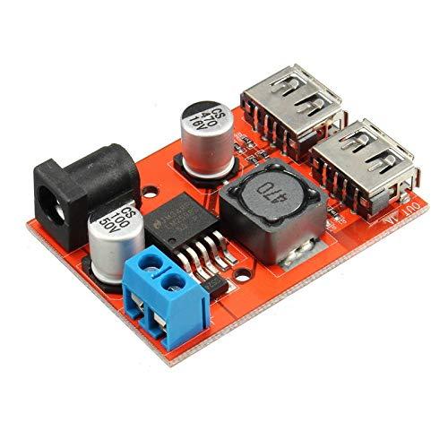 DC-DC 9V/12V/24V/36V to 5V Dual USB Buck Module Vehicle Charging Solar 3A Voltage Regulator Board - Arduino Compatible SCM & DIY Kits Module Board - 1 x Dual USB Buck Module Unknown