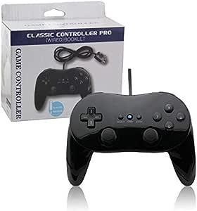 Controle Clássico Classic Grip Nintendo Wii e Wii U Preto