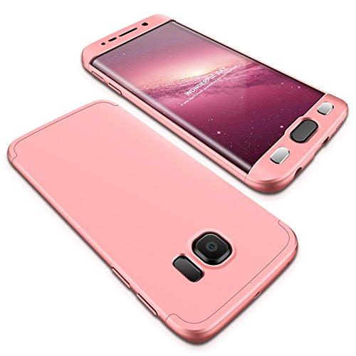 Samsung Galaxy S7 Edge Funda - BCIT Funda Samsung Galaxy S7 Edge 360 Grados Integral Para Ambas Caras + Cristal Templado,...