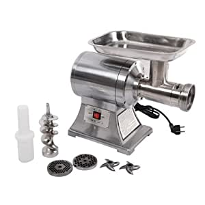 New Commercial Stainless Steel True 1HP Electric Meat Sauage Grinder