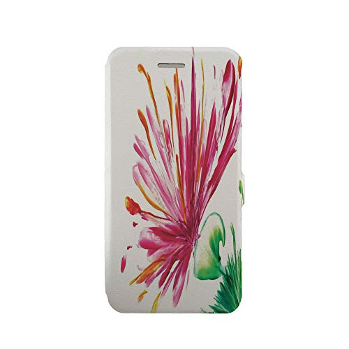 Phone case Compatible with iPhone 6 Plus/iPhone 6s Plus 3D Printed PU Skin Cover Protection Sleeve,Opened Out Asiatic Oriental Lily Freesia Florets,iPhone case Premium PU Leather Magnetic Flip Folio