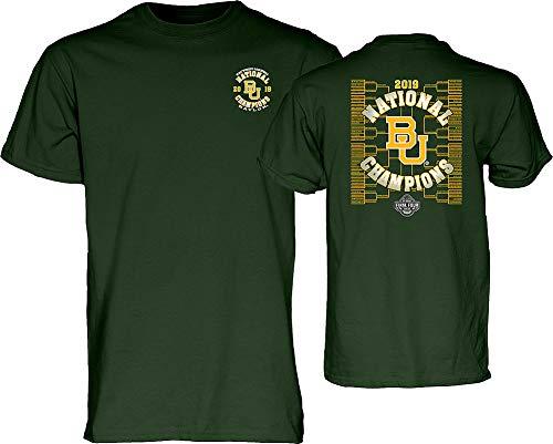 Elite Fan Shop Baylor Bears Womens National Basketball Championship Tshirt 2019 Bracket Green - M