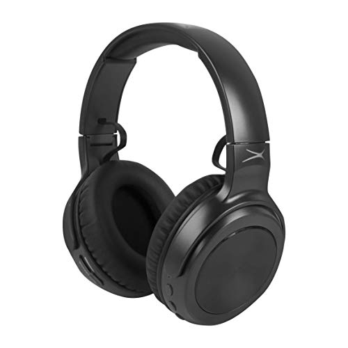 Altec Lansing MZX701- BLK Rumble Bass Boosted Over Ear Bluetooth Headphones with Omnidirectional Vibration, 10 Hour Battery Life and Voice Assistant Integration, Dynamic Bass, Black