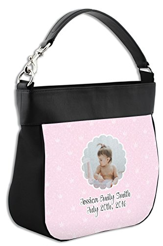 Front Personalized w Girl Photo Trim Genuine Hobo Leather Purse Baby 1Aq8Sw1