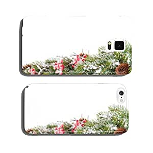 Christmas fir tree branch with holly berry cell phone cover case iPhone6