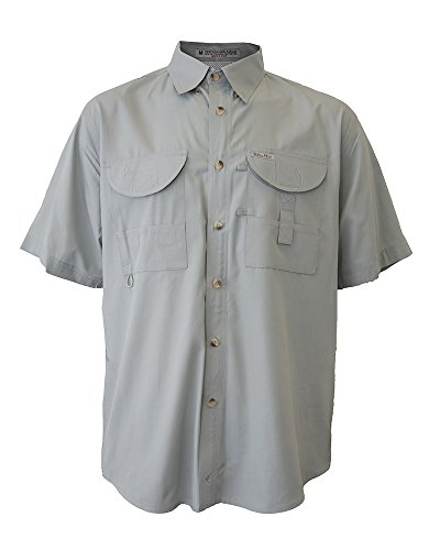 Arctic Tiger (Tiger Hill Men's Fishing Shirt Short Sleeves Arctic Grey Large)